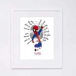 Spiderman – handprint – footprint