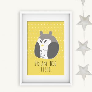 Personalised Dream Big Print