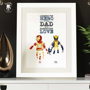 Superhero Handprints Keepsake for Dad