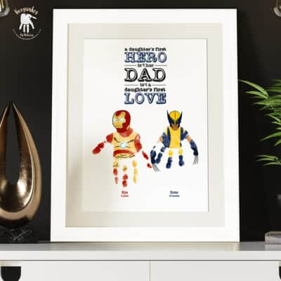 Dad-handprints-footprints-keepsake-Wolverine-Ironman