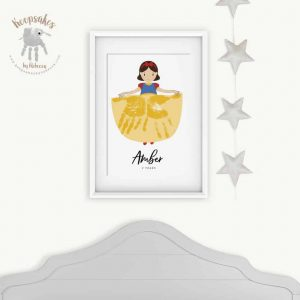 Princess- Snow White Handprints