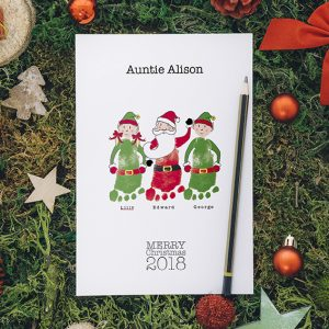 Santa and Elves- A5 personalised Christmas Cards