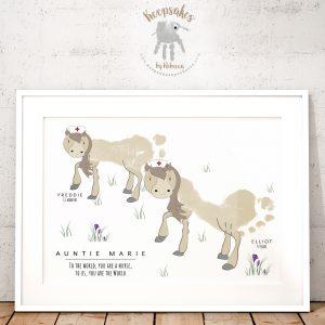 Footprint Horse