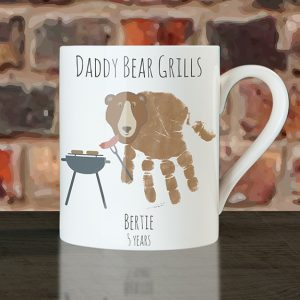 Personalised Daddy Bear Grills Handprint Cup