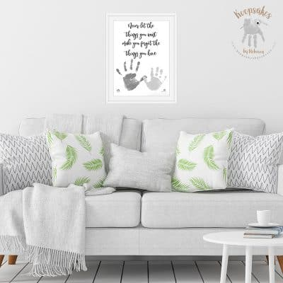 Handprint keepsake Family Quote