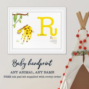 Giraffe handprint- Name meaning
