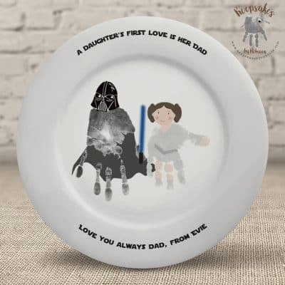 handprint Starwars gift for dad
