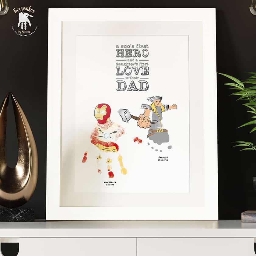 handprint and footprint gift for Dad