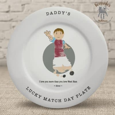 Football themed footprint gift for dad