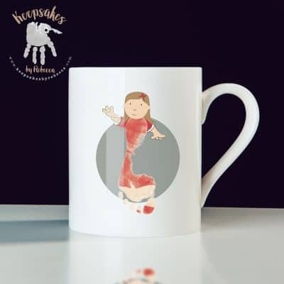 Liverpool football club personalised mug for dad- footprint art