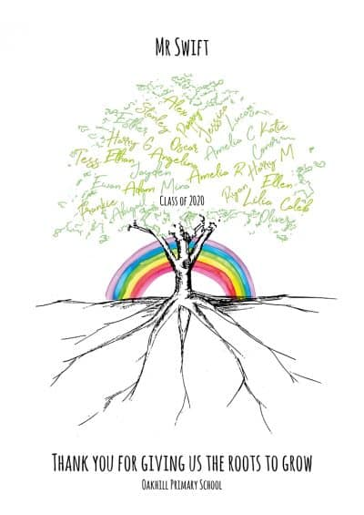 Personalised teacher gift | Rainbow gift