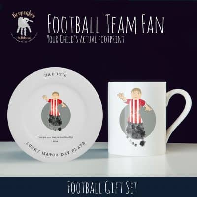 football personalised gift set