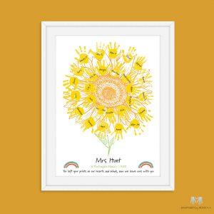 Class Gift- Handprint Sunflower