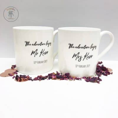 Disney-up-wedding-venue-personalised-wedding-gift up house wedding venue balloons mr and mrs personalised mugs with wedding date