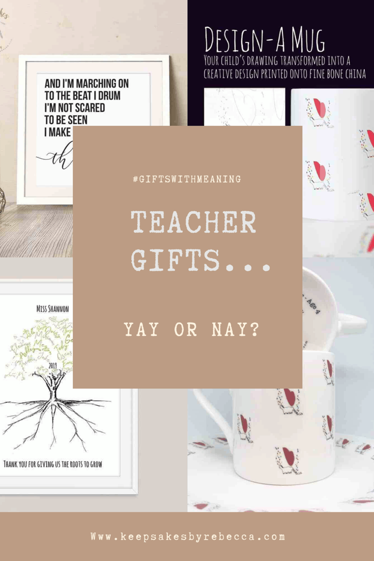 Top Tips for buying personalised teacher gifts