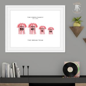 Personalised Football Gift | Football Family Print