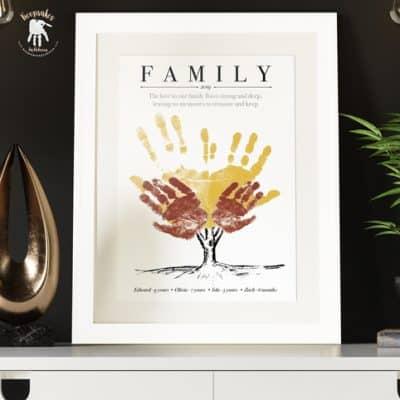 Family tree Keepsake | Handprint art | Family Quote | Personalised Print