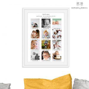 Personalised family keepsake   baby Keepsake   Baby's first year