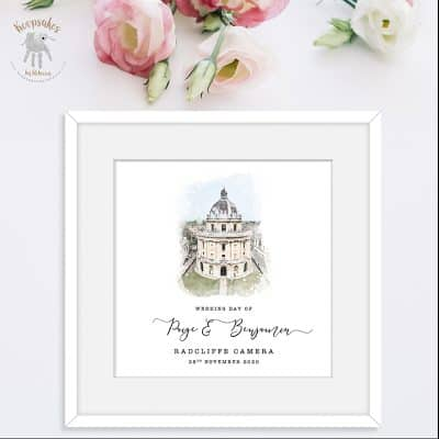 Personalised Wedding Gift | Wedding venue illustration