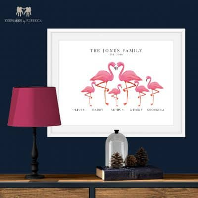 personalised family print | flamingo | family print
