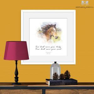 Horse Portrait | Watercolour Style