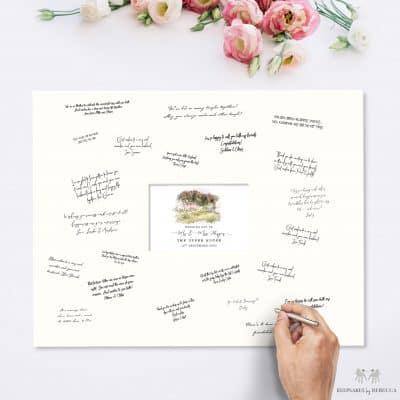 alternative guest book | wedding venue illustration