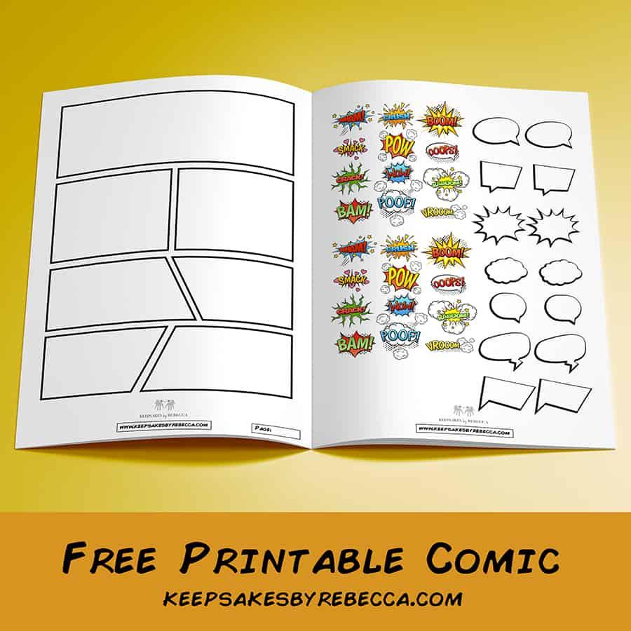Free printable comic strip