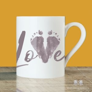 Love | Baby Footprint Cup
