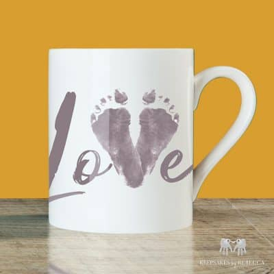 Baby footprint | Keepsake cup