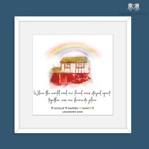 Lockdown Keepsake | Rainbow House Portrait