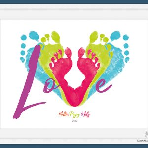 Family Love Footprints (Parent & Child/Siblings)