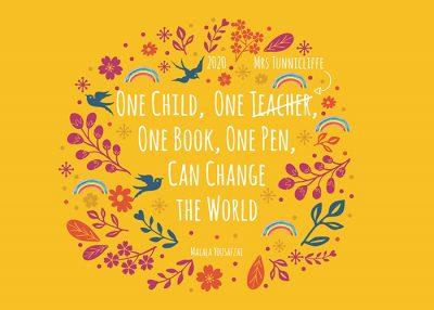 teacher inspirational quote | teacher gift