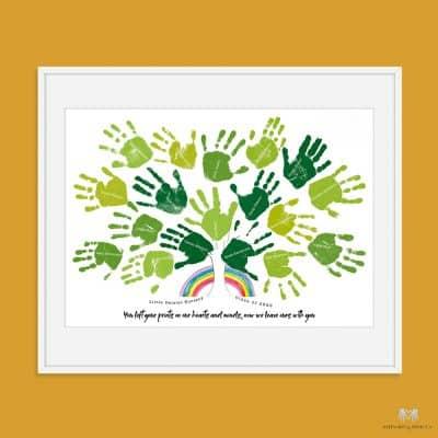 Teacher gift from the class | Handprint Gift
