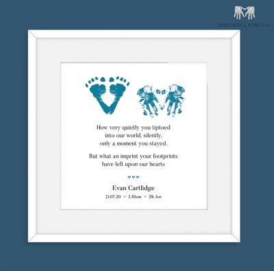 Baby loss Keepsake | baby loss poem | Stillborn poem | Stillborn footprint keepsake