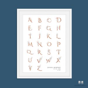 Floral Personalised Alphabet